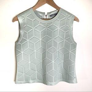 {Zara} W&B Collection Mint Geometric Cami
